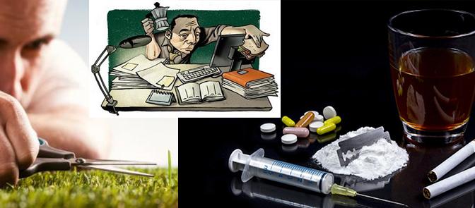 Függőségek - tökéletesség-mánia, munkamánia, drogok, alkohol