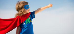 Következő generációs vezető, szuperhős kisfiú