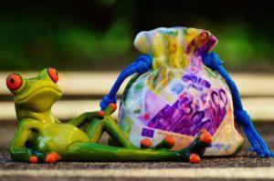 Béka egy zsák pénzzel